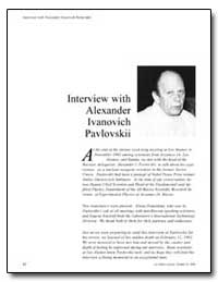 Interview with Alexander Ivanovich Pavlo... by