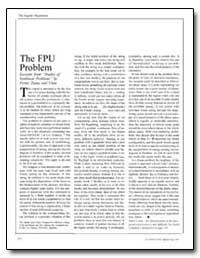The Fpu Problem Excerpts from Studies of... by
