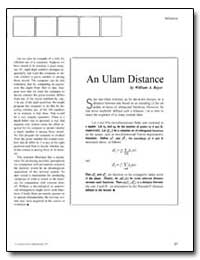 An Ulam Distance by Beyer, William A.