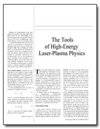 The Tools of High-Energy Laser-Plasma Ph... by