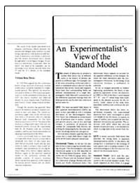 An Experimentalist's View of the Standar... by