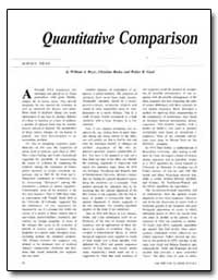 Quantitative Comparison by Beyer, William A.