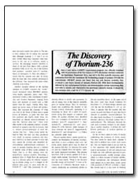 The Discovery of Thorium-236 by