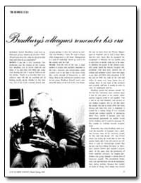 Bradbury's Colleagues Remember His Era by
