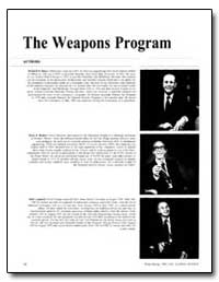 The Weapons Program by Baker, Richard D.