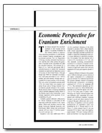 Economic Perspective for Uranium Enrichm... by