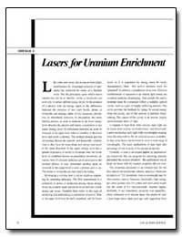 Lasers for Uranium Enrichment by