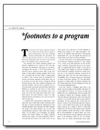 Footnotes to a Program by