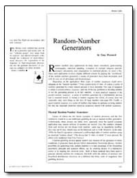 Random-Number Generators by Warnock, Tony