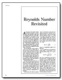 Reynolds Number Revisited by