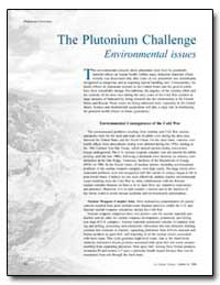 The Plutonium Challenge Environmental Is... by