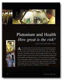 Plutonium and Health How Great Is the Ri... by Voelz, George L.