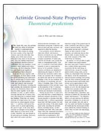 Actinide Ground-State Properties Theoret... by Wills, John M.