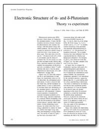 Electronic Structure of Alpha and Delta ... by Arko, Aloysius J.