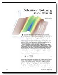 Vibrational Softening in -Uranium by Manley, Michael E.