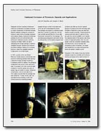 Catalyzed Corrosion of Plutonium : Hazar... by Haschke, John M.