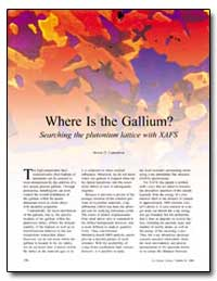 Where Is the Gallium Searching the Pluto... by Conradson, Steven D.