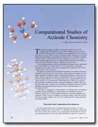 Computational Studies of Actinide Chemis... by Hay, Jeffrey