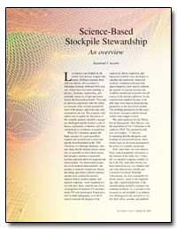 Science-Based Stockpile Stewardship an O... by Juzaitis, Raymond J.
