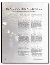 The New World of the Nevada Test Site by Papazian, Ghazar R.