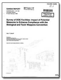 Survey of Doe Facilities: Impact of Pote... by Zelicoff, Alan P.