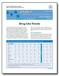 Drug Use Trends by Walters, John P.