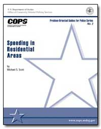 Speeding in Residential Areas by Scott, Michael S.
