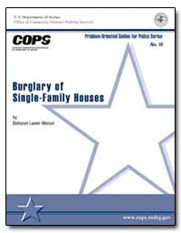 Burglary of Single-Family Houses by Weisel, Deborah Lamm