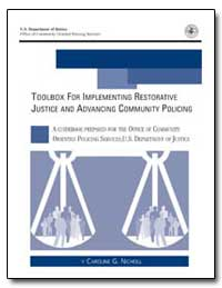 Toolbox for Implementing Restorative Jus... by Nicholl, Caroline G.