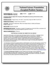 National Science Foundation Excepted Pos... by