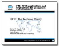 Ftc : Rfid : Applications and Implicatio... by Engels, Daniel W.