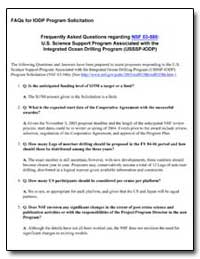 Faq's for Iodp Program Solicitation by