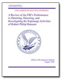 A Review of the Fbi's Performance in Det... by Fine, Glenn A.