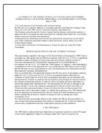 Authority of the Federal Bureau of Inves... by