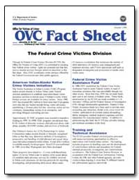 The Federal Crime Victim Division by