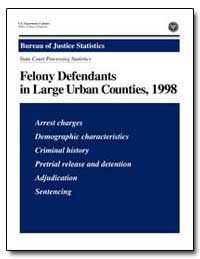 Felony Defendants in Large Urban Countie... by Greenfeld, Lawrence A.