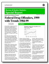 Federal Drug Offenders, 1999 with Trends... by