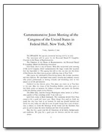 Commemorative Joint Meeting of the Congr... by