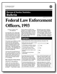 Federal Law Enforcement Officers, 1993 by Reaves, Brian A., Ph. D.