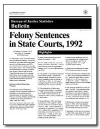 Felony Sentences in State Courts, 1992 by Langan, Patrick A.