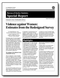 Violence against Women: Estimates from t... by Bachman, Ronet, Ph. D.