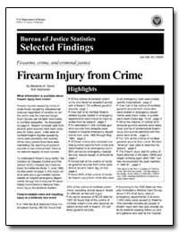 Firearm Injury from Crime by Zawitz, Marianne W.