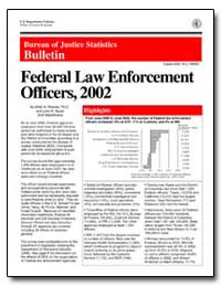 Federal Law Enforcement Officers, 2002 by Reaves, Brian A., Ph. D.