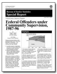 Federal Offenders under Community Superv... by Adams, William P.