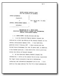 Declaration of R. Bruce Burke Associate ... by Burke, R. Bruce