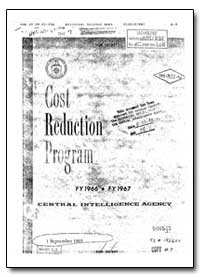Cia Cost Reduction Program by