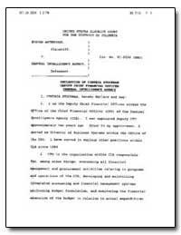 Declaration of Cynthia Stockman Deputy C... by Stockman, Cynthia