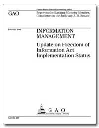 Information Management Update on Freedom... by Koontz, Linda D.
