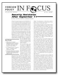 Security Assistance after September 11 by Gabelnick, Tamar