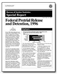 Federal Pretrial Release and Detention, ... by Scalia, John